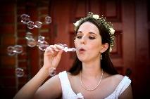 De jolies bulles pour une jolie mariée