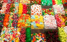 Le plein de couleurs avec toutes sortes de bonbons!