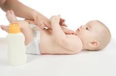 Le liniment pour nettoyer bébé...