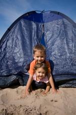 Un abri de plage pour nos enfants