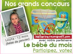 """Le jeu-concours du """"plus beau bébé du mois"""""""