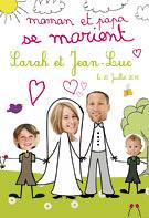 un faire part recommander tous les parents qui se marient aprs avoir fait des enfants vous pourrez sur ce modle prsenter toute la famille - Faire Part Mariage Papa Et Maman Se Marient