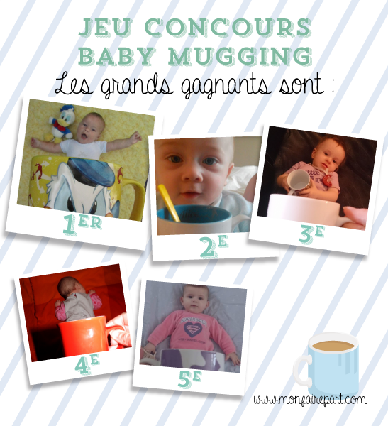Gagnants concours Baby Mugging