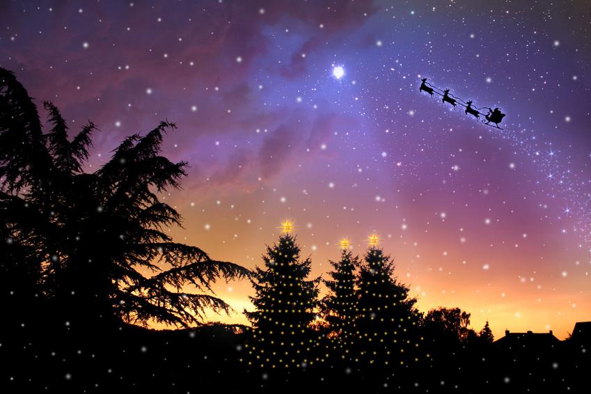 weihnachten, sterne, himmel
