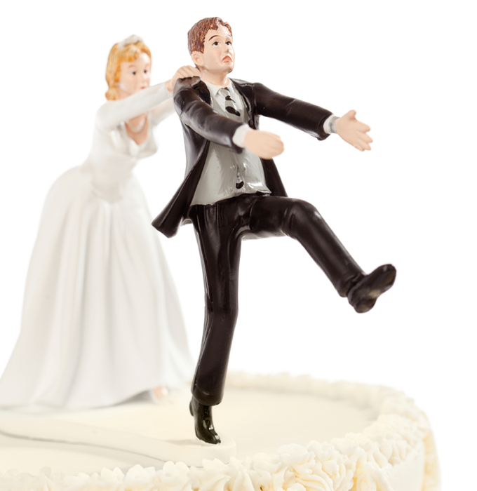 wedding topper humouristique