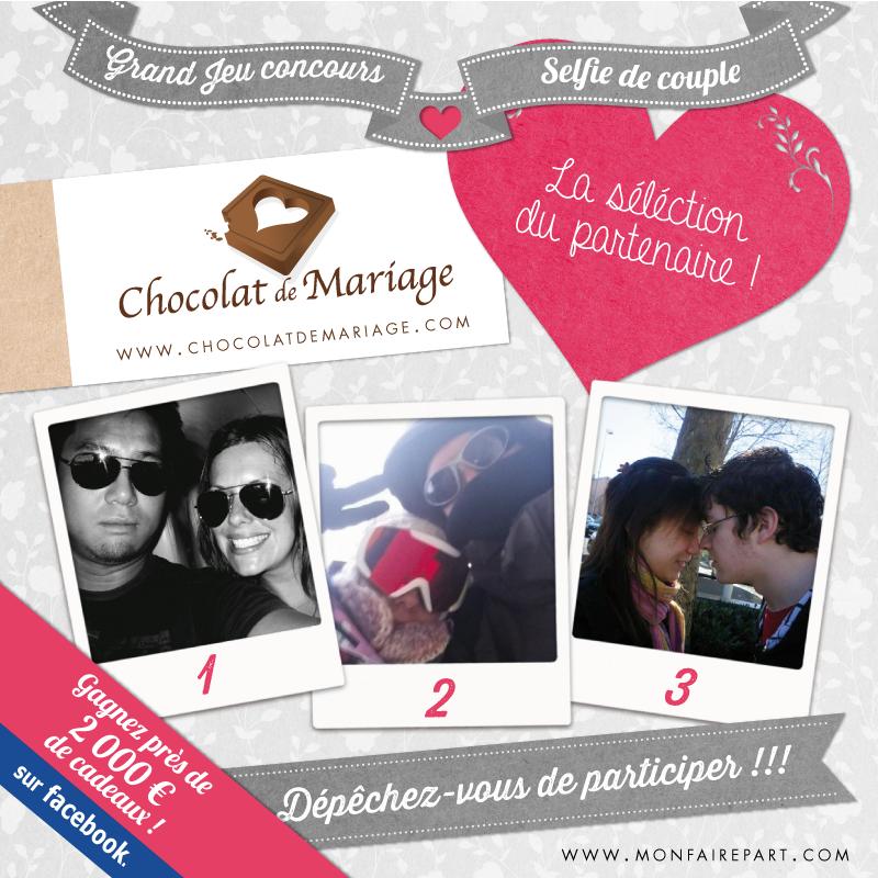 sélection de chocolat de mariage