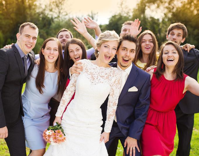les invités d'un mariage
