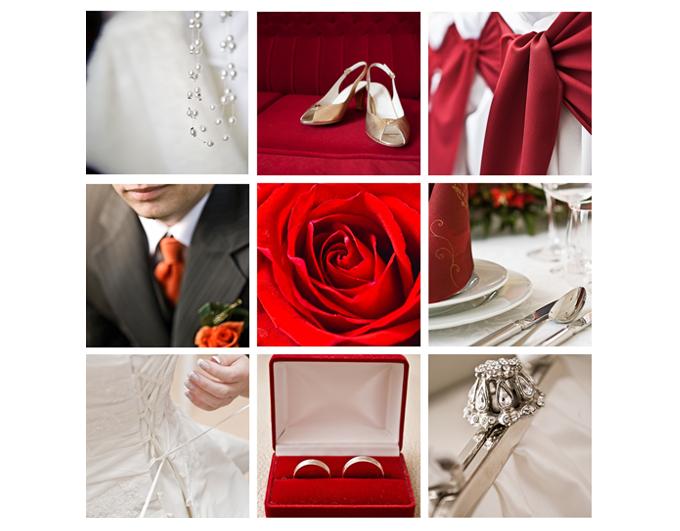 thème mariage rouge