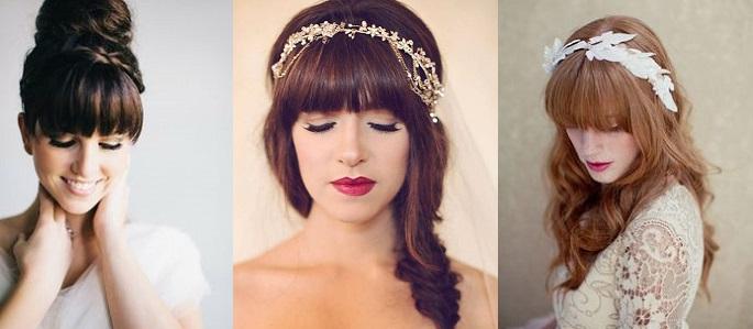coiffure mariée frange