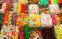 Le plein de couleurs avec toutes sortes de bonbons!