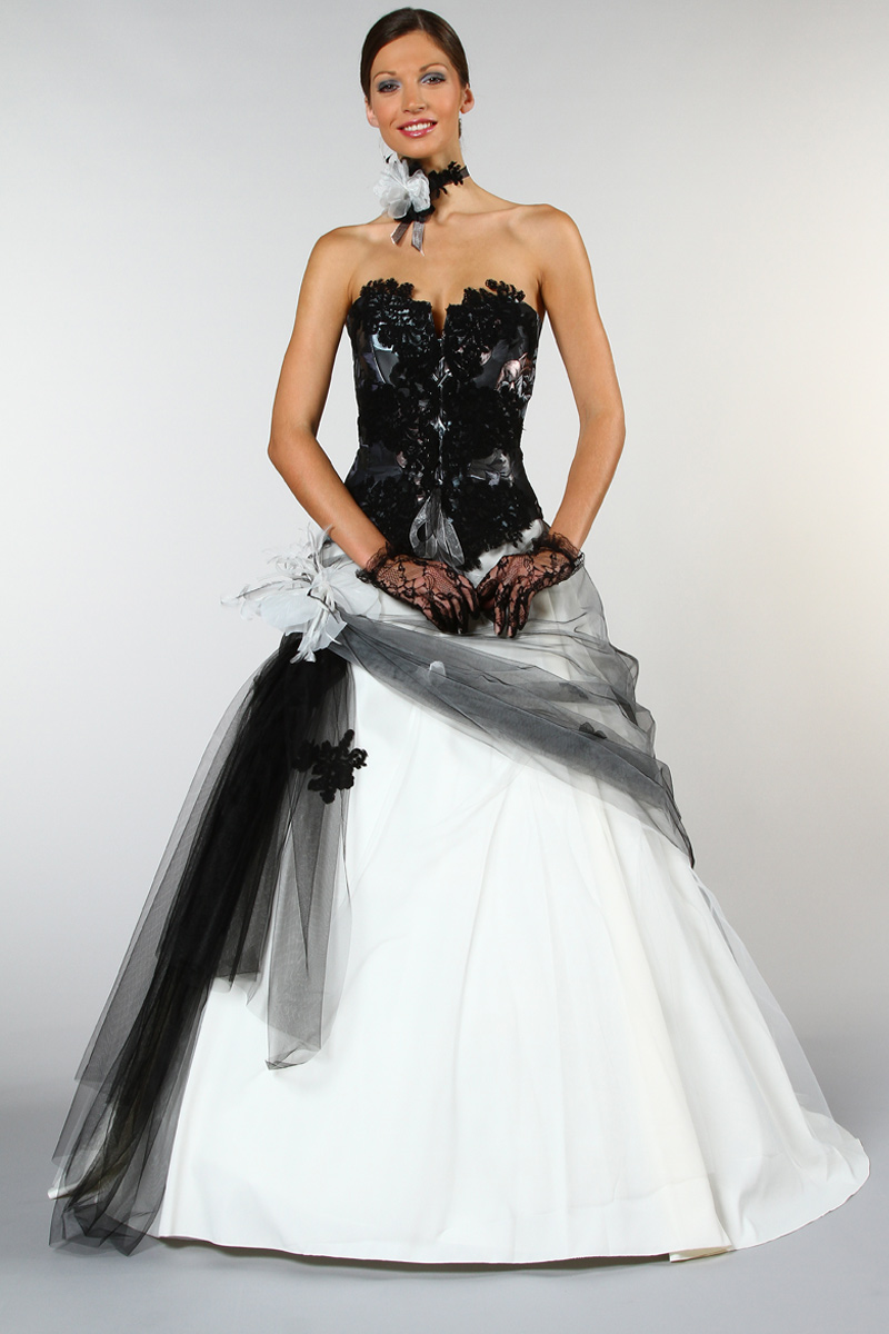 Robe mariee dentelle noir